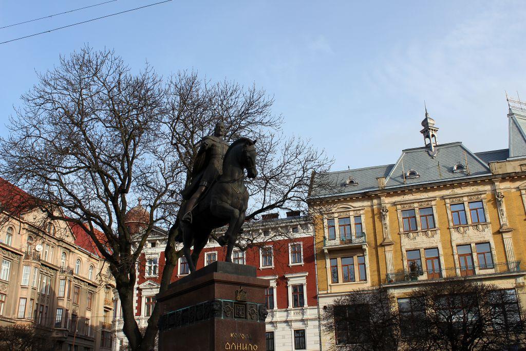 Lviv gezilecek yerler - Danylo Halytsky Meydanı