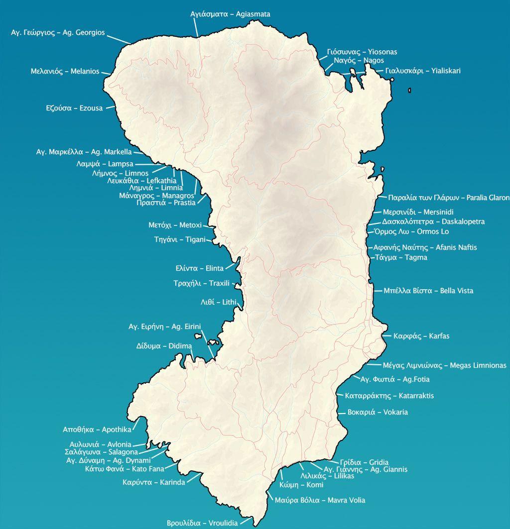 sakız adası plajları harita